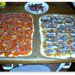 Vis salted anchovy pie variants