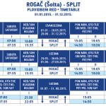 Rogač (Šolta) to Split - Timetable