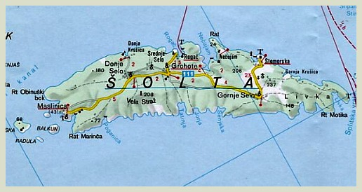 Solta Island Map