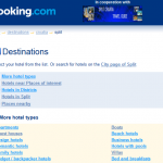 Split accommodation overview by Booking.com