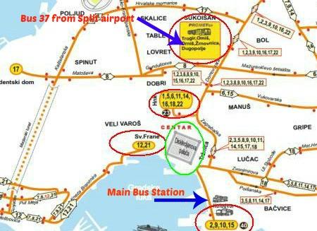 Split bus stations