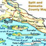 Split and Dalmatia County Map