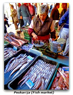 Fish market goods