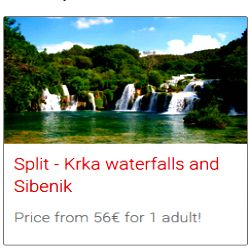 Split to Krka bus tour