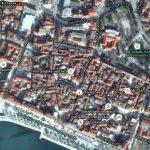 Split old town map