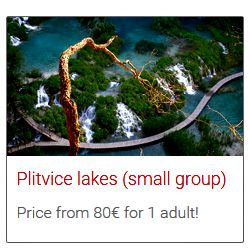 Split to Plitvice Lakes bus tour
