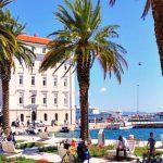 Spring weather on Riva promenade in Split, Croatia