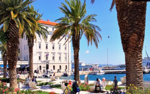 Spring weather on Riva promenade in Split, Croatia