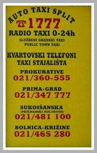 Auto Taxi Split contacts
