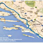 Split to Dubrovnik by car route