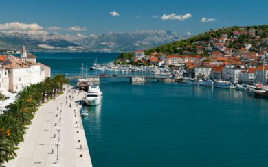 Trogir town bridge