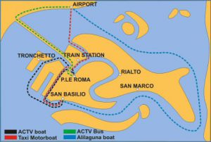 Venice ferry port map