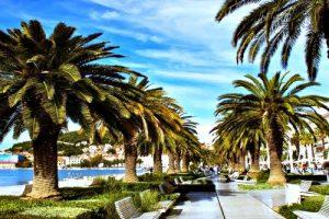 Walking on Split's Riva