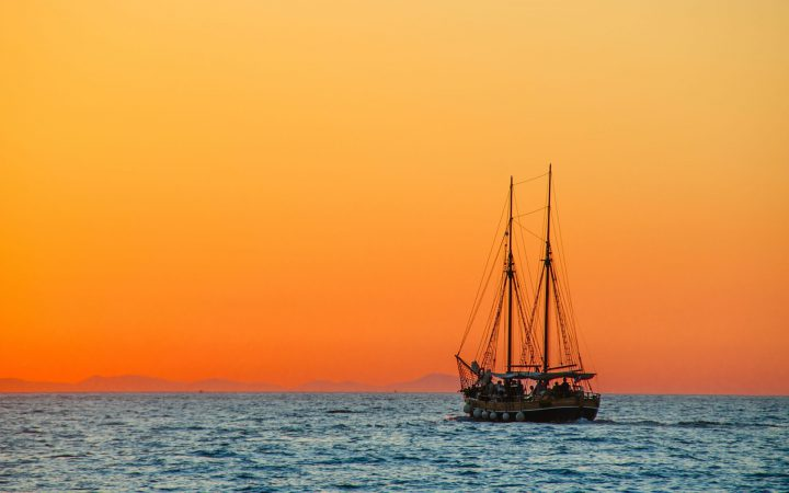 Wooden sailing ship
