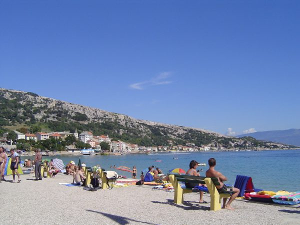 Vela Plaza in Baska on Krk Island