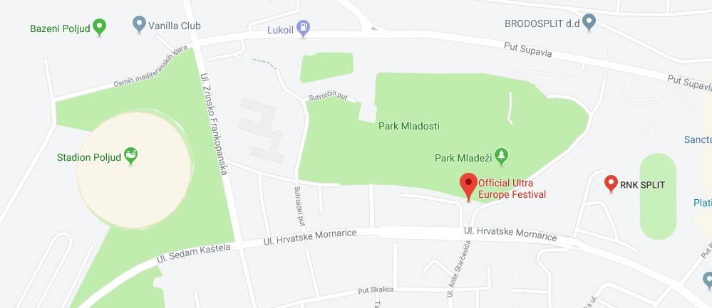 RNK Split location on map