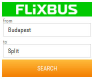 Flixbus Budapest to Split bus search
