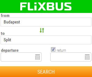 Flixbus - Budapest to Split bus search